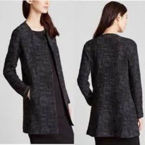 Eileen Fisher Crosshatch 🌸Long Jacket Black XL